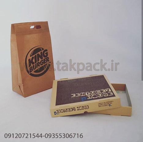 ساک دستی جعبه پیتزا